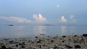 Evening sea stock footage