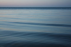 Evening at the sea in winter. Royalty Free Stock Photography