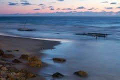 Evening seascape from the embankment of Tel Aviv Stock Photos
