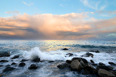 Evening seascape Stock Images