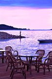 Evening Seaside In Pink And Blue Royalty Free Stock Images
