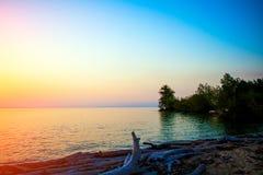 Evening Seaside Landscape Stock Image