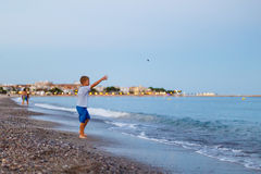Evening seaside in Spain. Catalonia royalty free stock images
