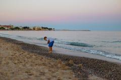 Evening seaside in Spain. Catalonia royalty free stock photos