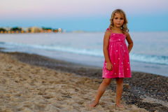 Evening seaside in Spain. Catalonia stock images