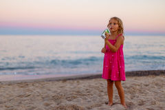 Evening seaside in Spain. Catalonia royalty free stock photography