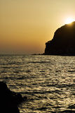 Evening seaview. Seaview in the evening backlight, Montenegro Stock Images