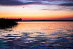 Evening See Stockbild