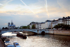 Evening Seine Royalty Free Stock Photos