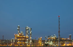 Evening sene of Chemical plant Royalty Free Stock Photography