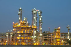 Evening sene of Chemical plant Royalty Free Stock Images