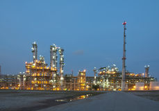 Evening sene of Chemical plant Stock Photography