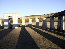 Evening Shadow. Replica of Stonehenge in the Texas hill country Stock Images
