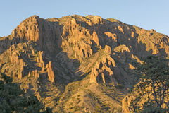 Evening Shadows in the Desert Peaks Stock Photography