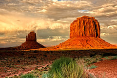 Evening Shadows in Monument Valley Royalty Free Stock Images
