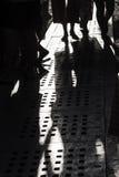 Evening shadows on the street at turkish bazaar Stock Image