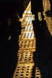 Evening shadows on the street at turkish bazaar Stock Photos