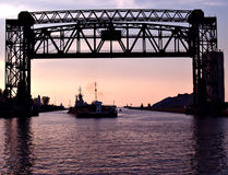Evening Shipping royalty free stock images