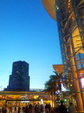Evening shopping time. Evening view from Siam Paragon mall in Bangkok Royalty Free Stock Images