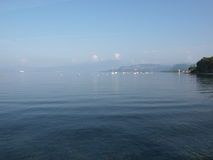 Evening on the shore of the lake Garda Royalty Free Stock Image