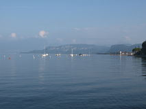 Evening on the shore of the lake Garda Royalty Free Stock Photography