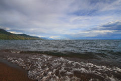 The evening on the shores of Nyasa Lake (Malawi Lake) Tanzania Stock Photos