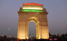 Evening Shot of India Gate on Republic day Stock Images
