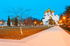 Evening shot of an Orthodox church Royalty Free Stock Image