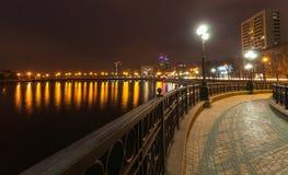 Evening shot of promenade in Donetsk. Royalty Free Stock Photos