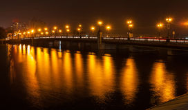 Evening shot of promenade in Donetsk. Stock Photos
