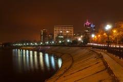 Evening shot of promenade in Donetsk. Stock Image