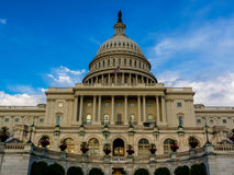 Seat of Power.  The Capitol Building of the USA. Royalty Free Stock Photography