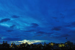 Evening sky. Cloudy evening sky in tokyo stock image