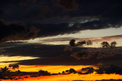 Evening sky. View of dramatic evening sky Royalty Free Stock Photography