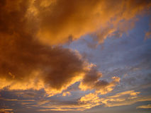 Evening sky. One of the last summer evenings this year royalty free stock photo