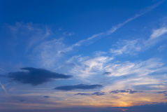 Evening sky Stock Photos