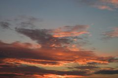 Evening sky. Red clouds on an evening sky Stock Photography