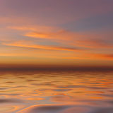 Evening sky above a water Royalty Free Stock Images