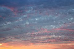 Evening sky abstract background royalty free stock photo