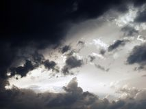 Evening sky ahead of the summer storm. Over Switzerland stock photography