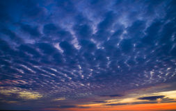 Evening sky background. Stock Images