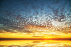 Evening sky background. Stock Photo