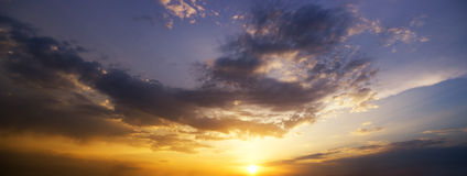 Evening sky background. Stock Image