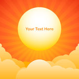 Evening sky background with sun text space royalty free illustration