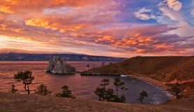 Evening sky of Baikal Royalty Free Stock Photography