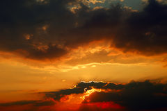 Evening clouds Stock Photography