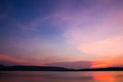The evening sky. Beautiful natural colors of the sky Stock Photo