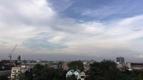 Evening sky stock video