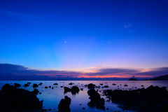 Evening sky. The blue sky in evening Thailand Royalty Free Stock Photography