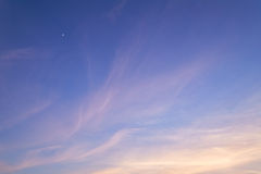 Evening sky. Cirrus clouds in evening sky. Sunset Royalty Free Stock Photos